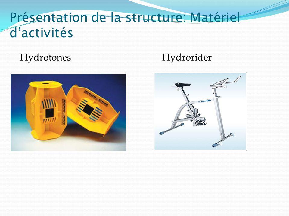 Présentation de la structure: Matériel d'activités