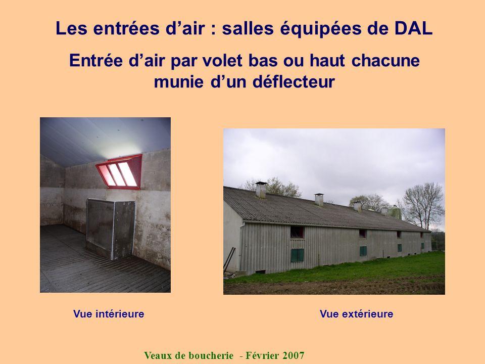 Les entrées d'air : salles équipées de DAL