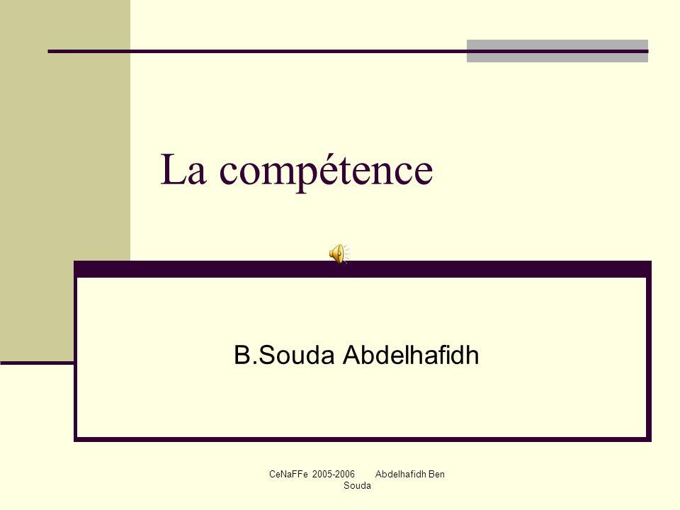 CeNaFFe 2005-2006 Abdelhafidh Ben Souda
