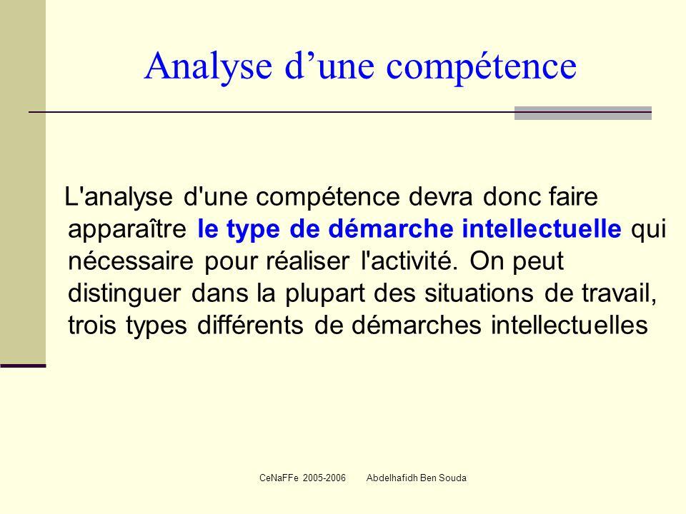 Analyse d'une compétence