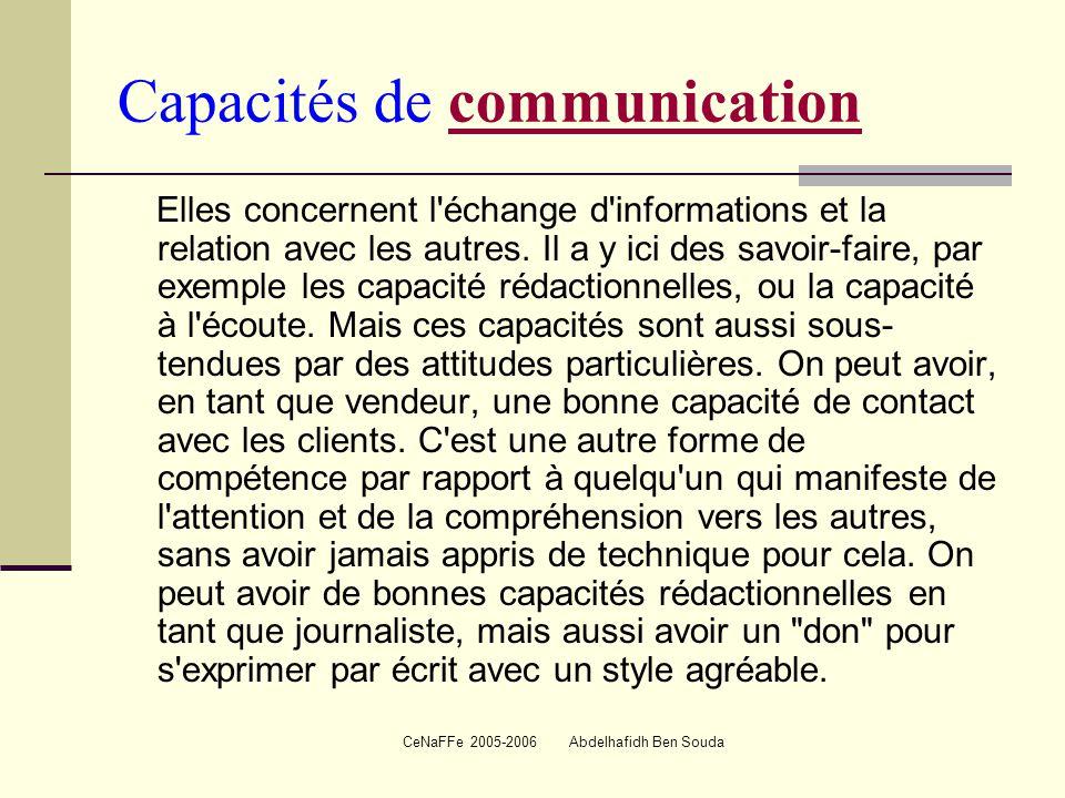Capacités de communication