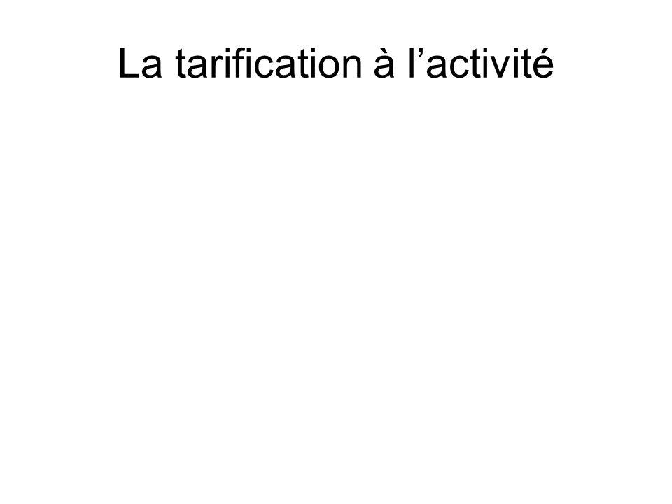 La tarification à l'activité