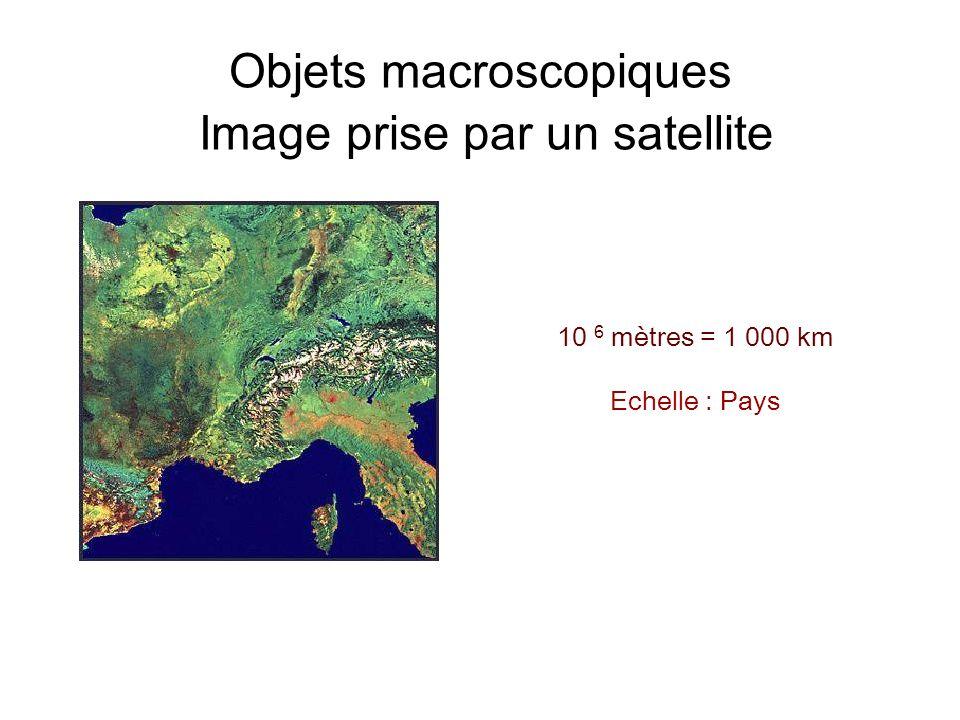 Objets macroscopiques Image prise par un satellite