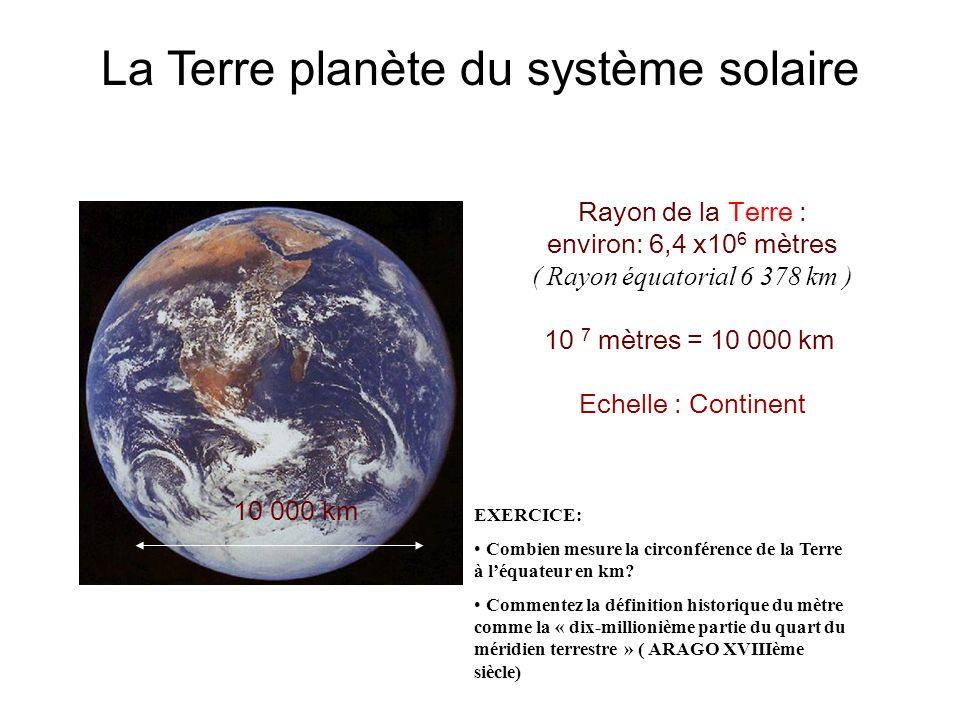 La Terre planète du système solaire