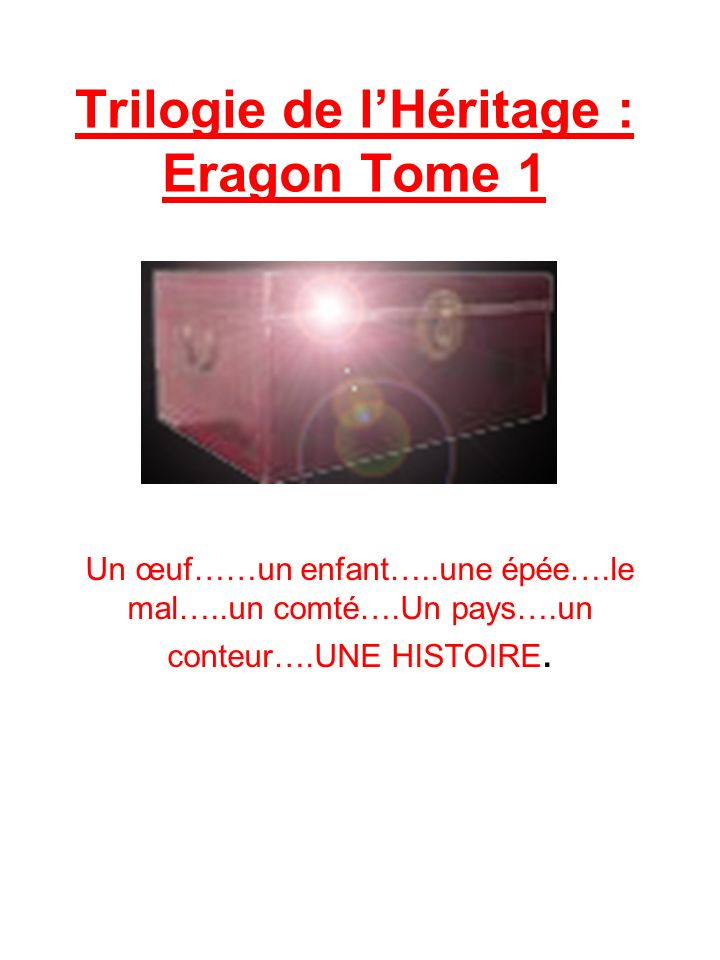 Trilogie de l'Héritage : Eragon Tome 1