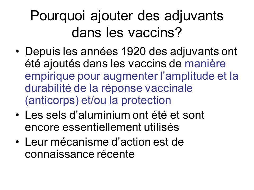 Pourquoi ajouter des adjuvants dans les vaccins