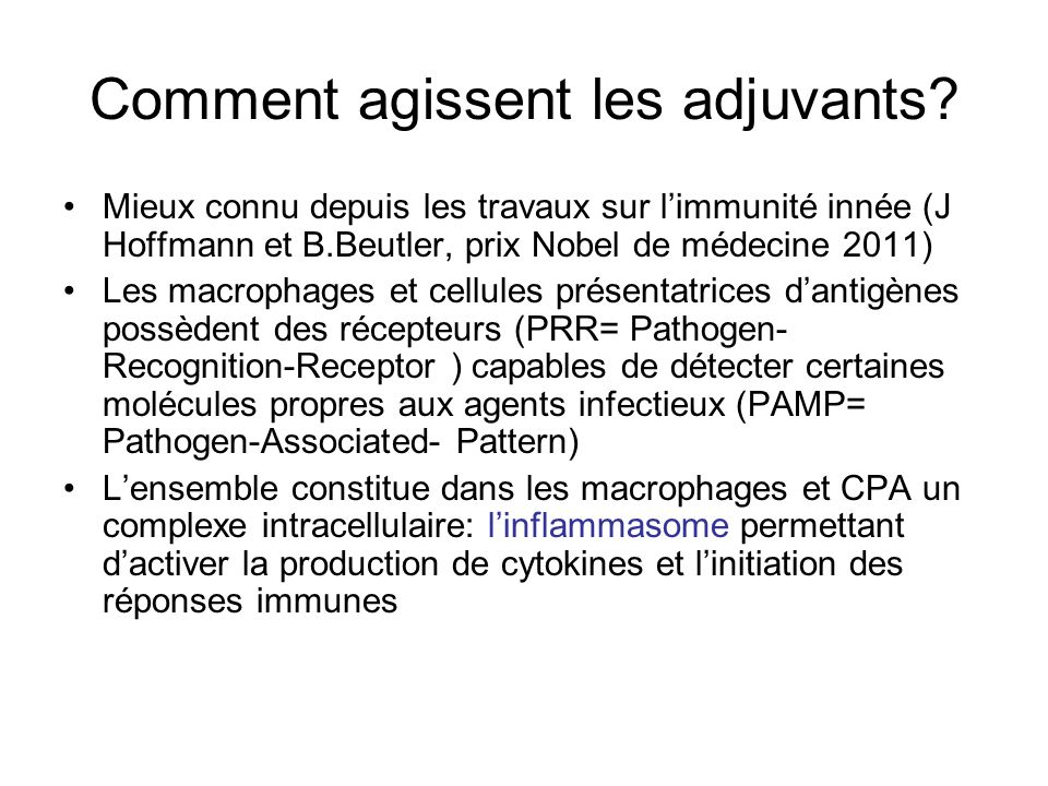 Comment agissent les adjuvants