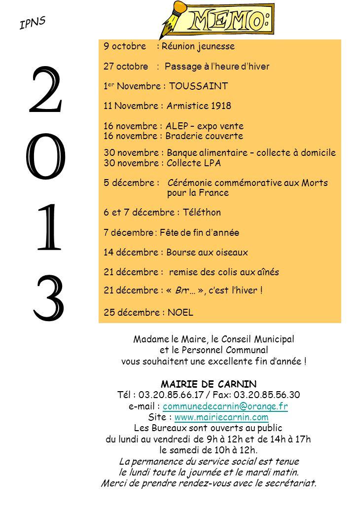 2 1 3 IPNS 9 octobre : Réunion jeunesse