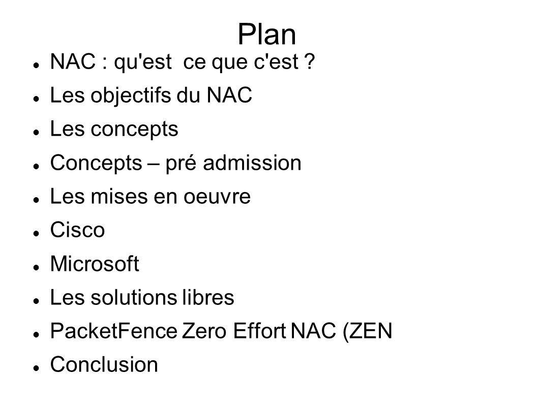 Plan NAC : qu est ce que c est Les objectifs du NAC Les concepts