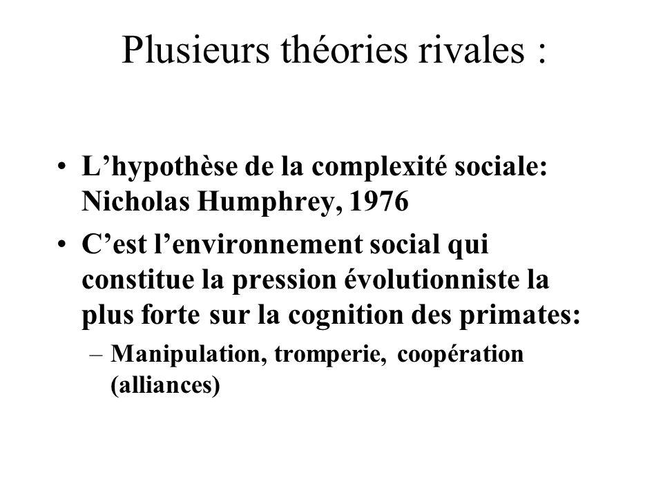 Plusieurs théories rivales :