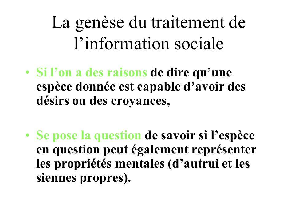 La genèse du traitement de l'information sociale