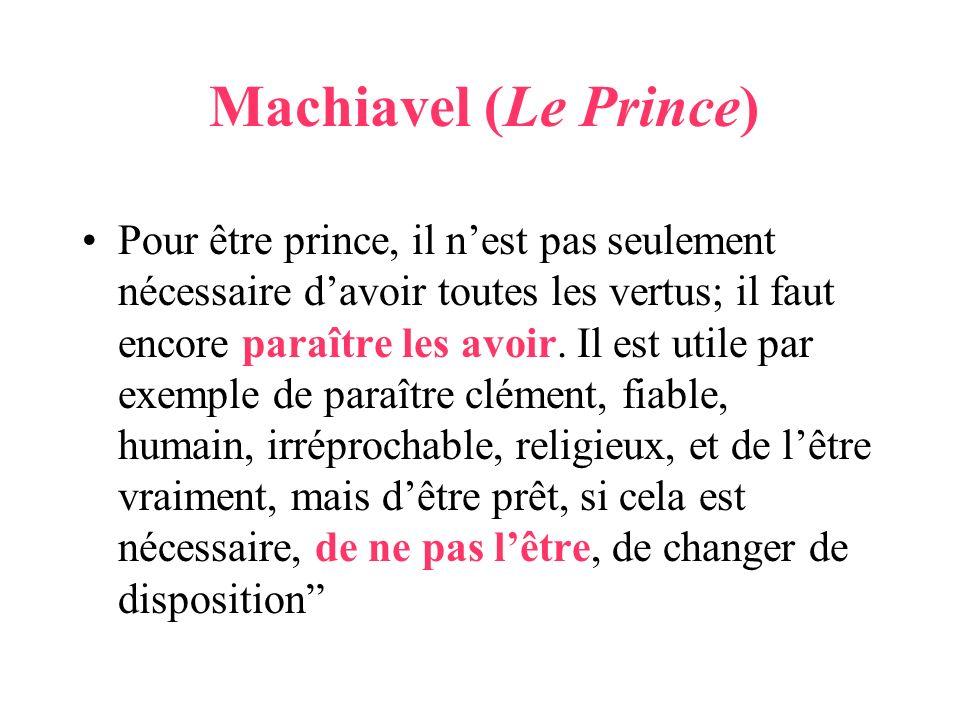 Machiavel (Le Prince)