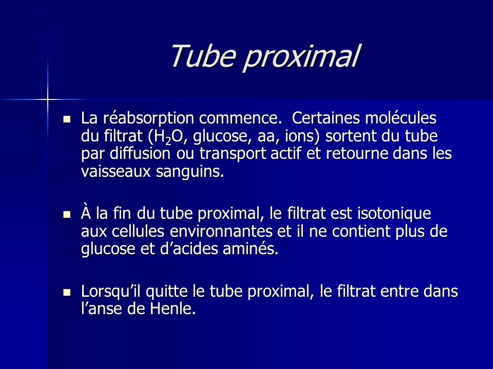 Tube proximal