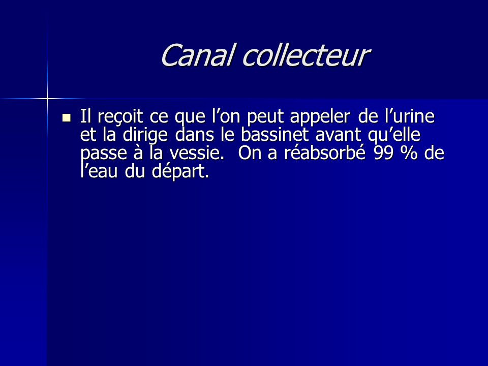 ‏ Canal collecteur