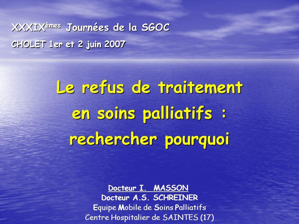 XXXIXèmes Journées de la SGOC CHOLET 1er et 2 juin 2007