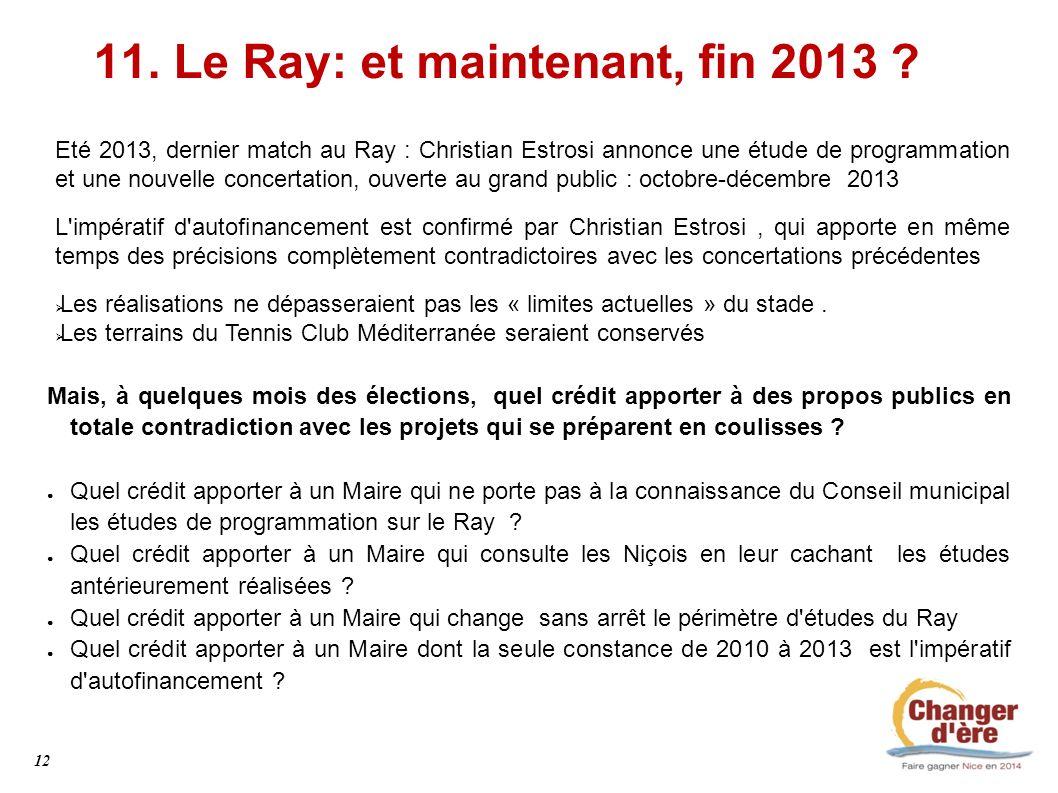 11. Le Ray: et maintenant, fin 2013