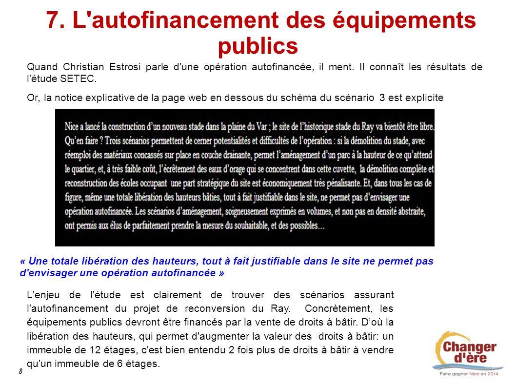 7. L autofinancement des équipements publics