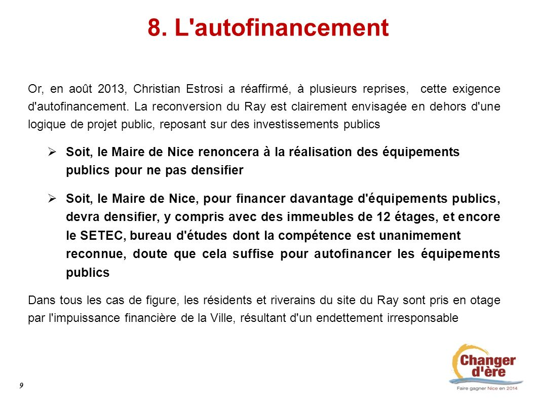 8. L autofinancement