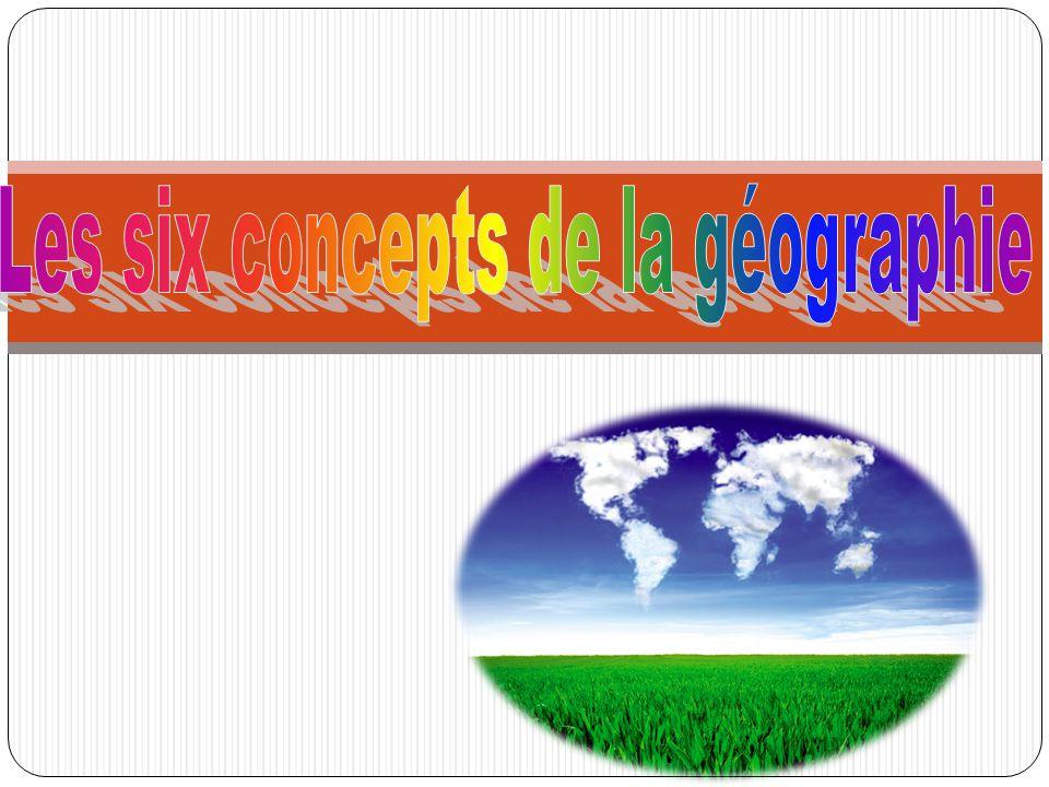 Les six concepts de la géographie