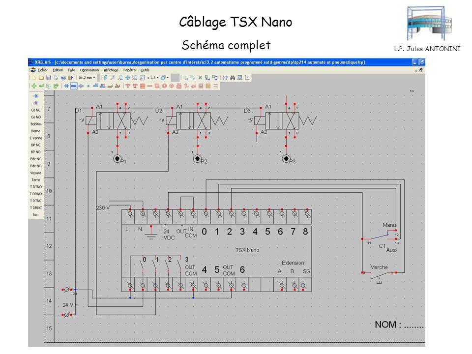 Câblage TSX Nano Schéma complet L.P. Jules ANTONINI