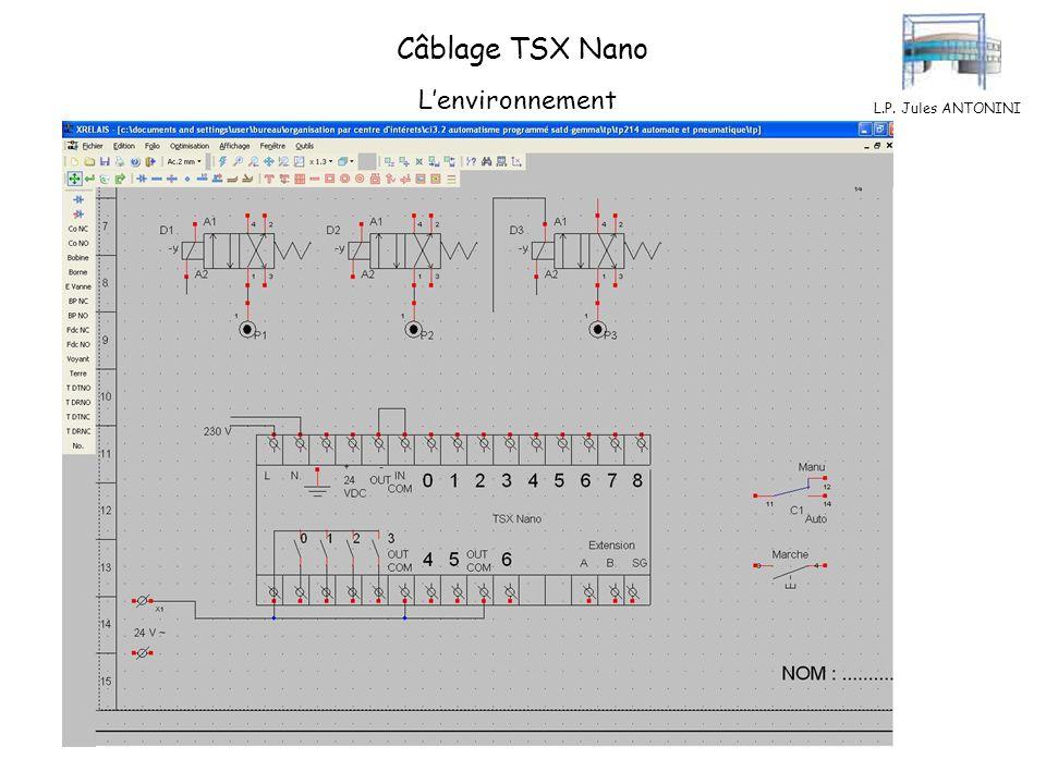 Câblage TSX Nano L'environnement L.P. Jules ANTONINI