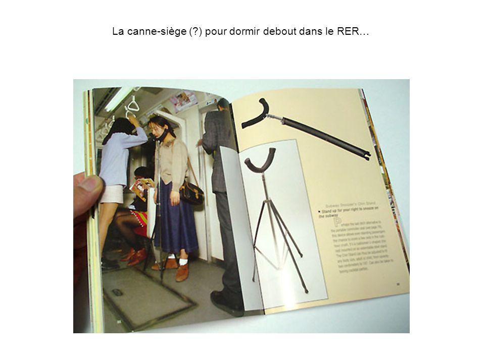 La canne-siège ( ) pour dormir debout dans le RER…
