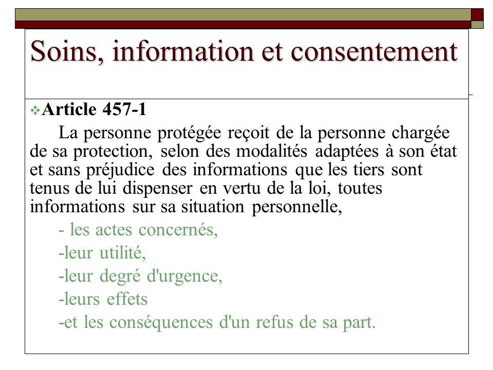 Soins, information et consentement