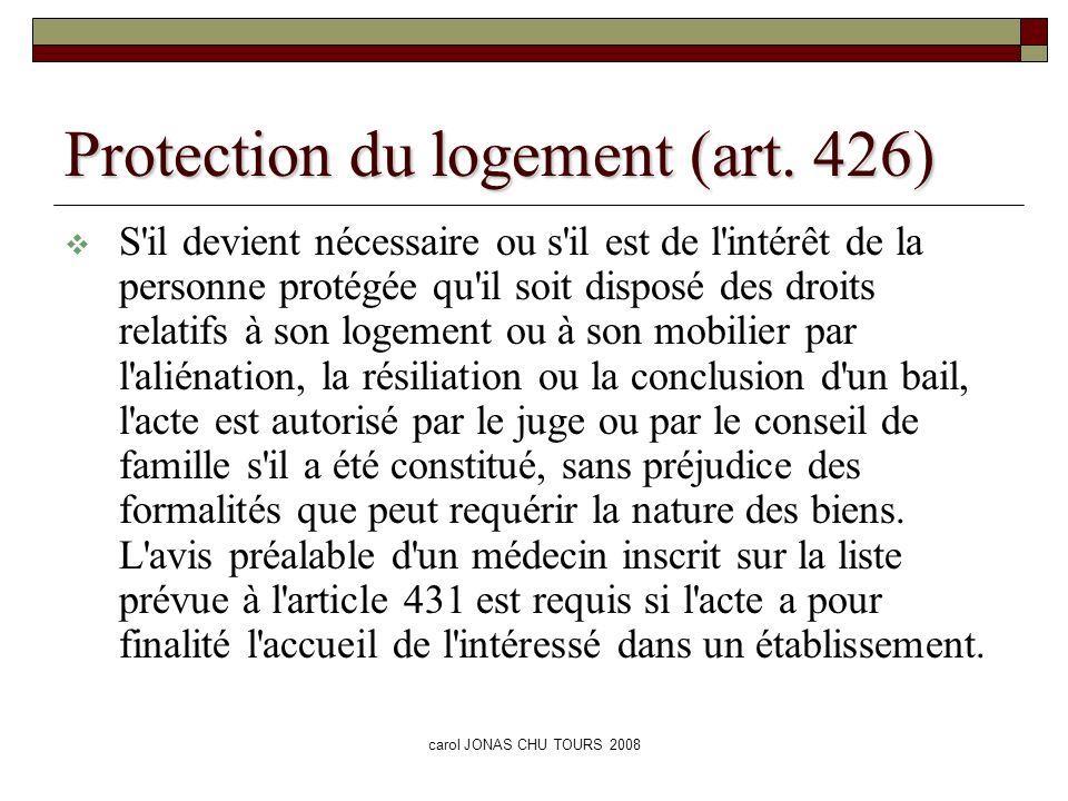 Protection du logement (art. 426)