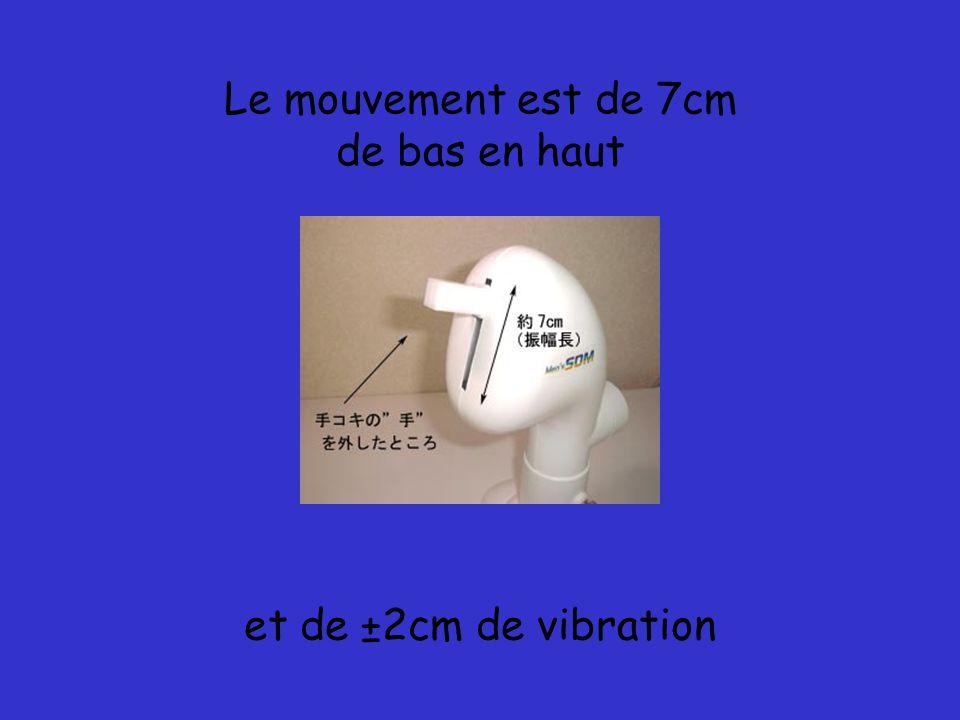 Le mouvement est de 7cm de bas en haut et de ±2cm de vibration