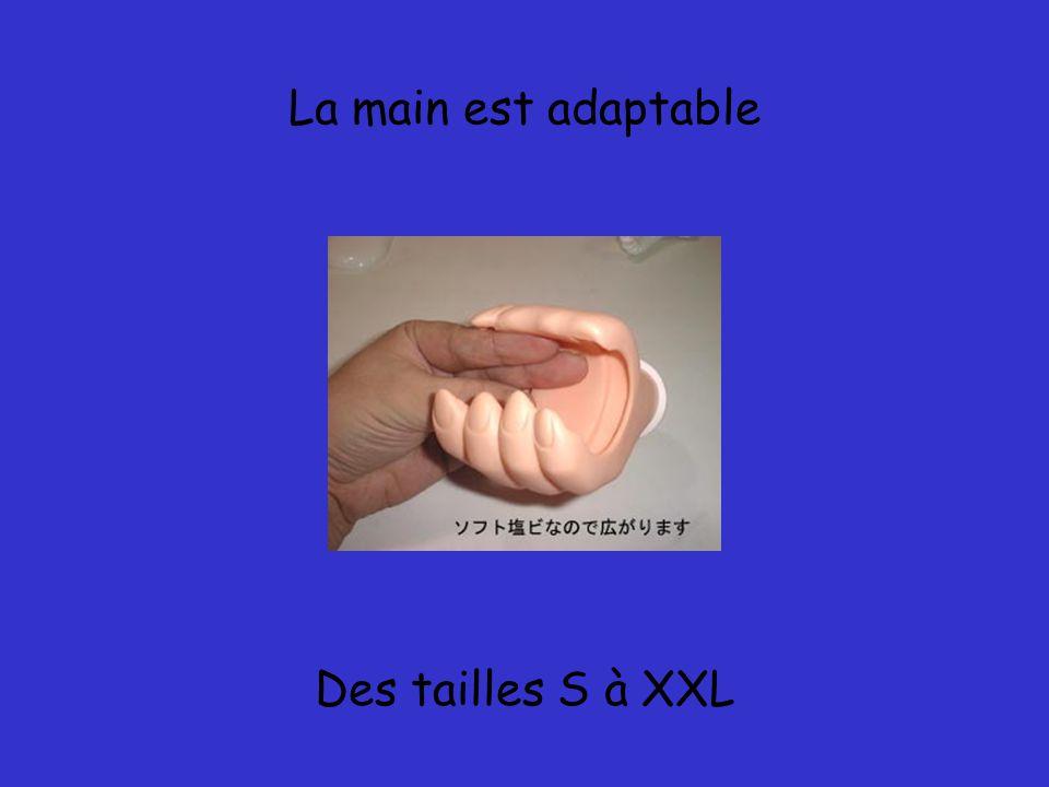 La main est adaptable Des tailles S à XXL