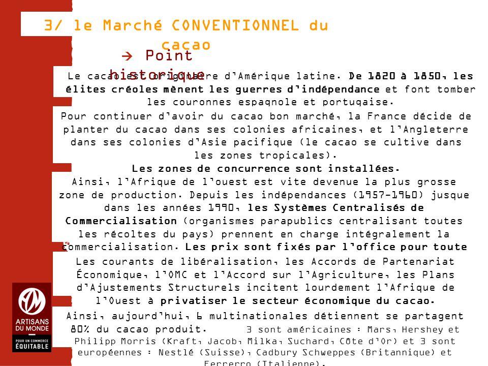 3/ le Marché CONVENTIONNEL du cacao
