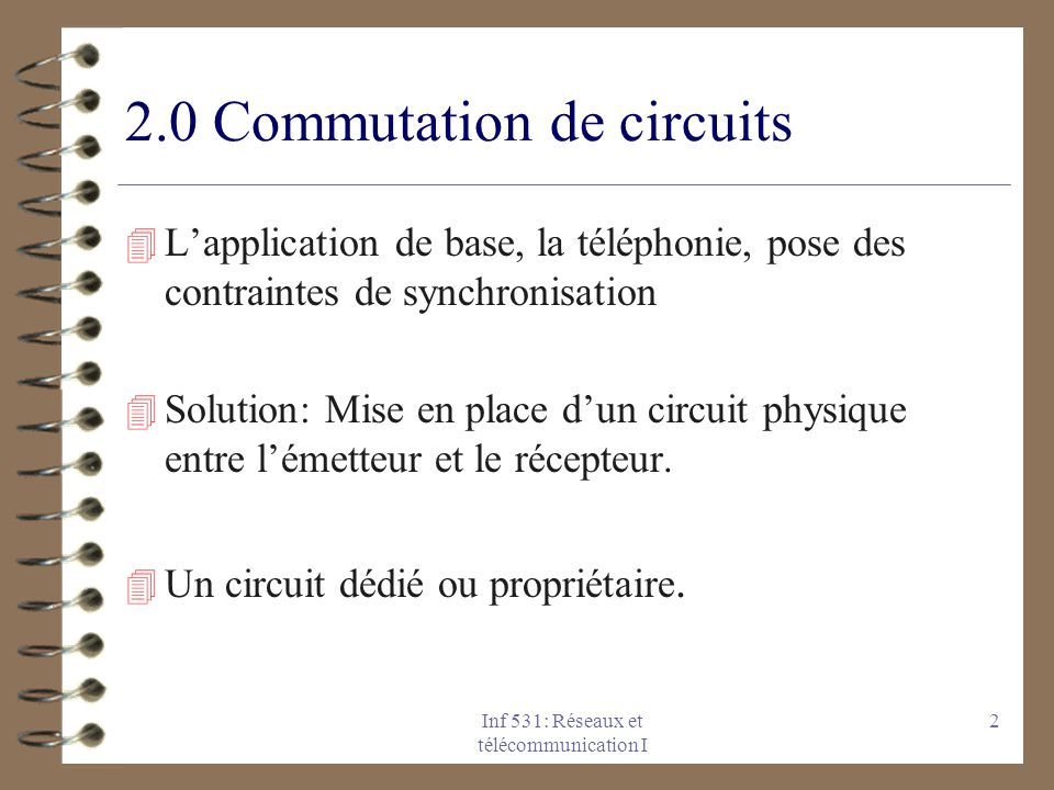 2.0 Commutation de circuits
