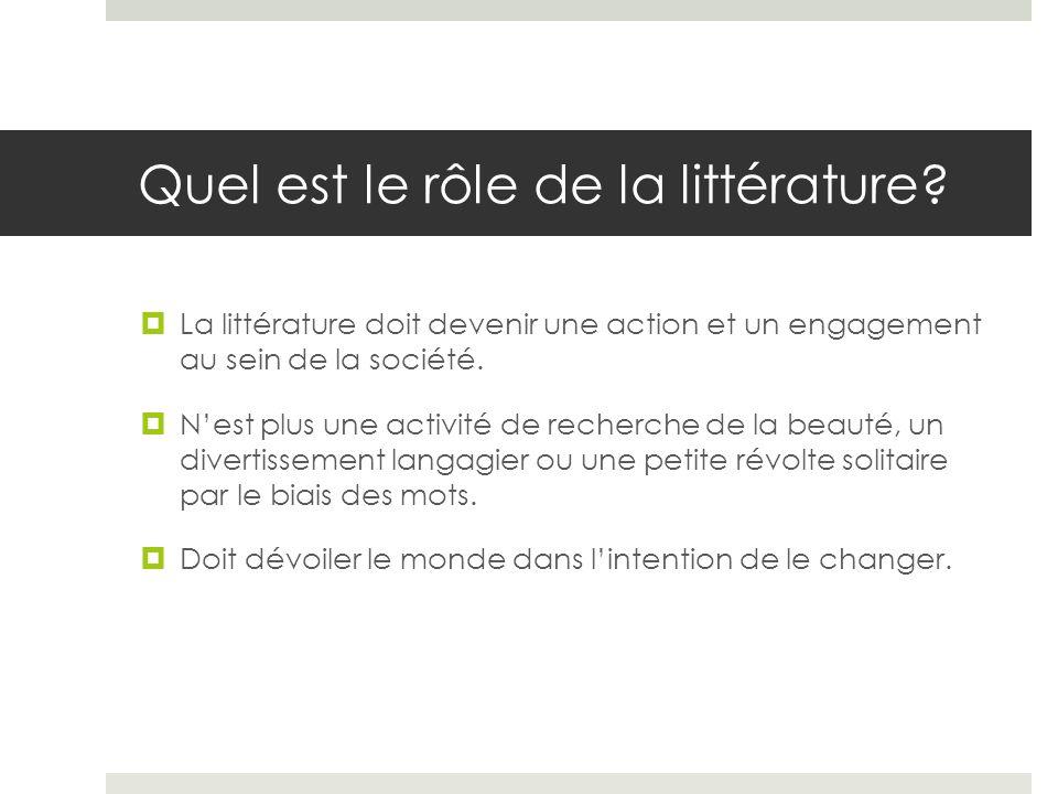 Quel est le rôle de la littérature