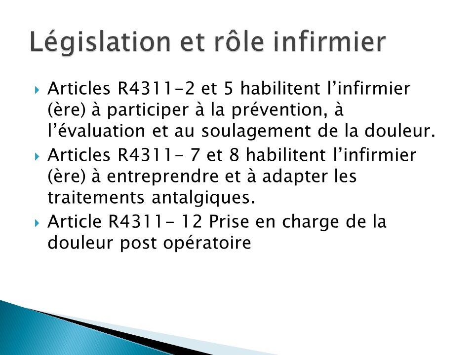 Législation et rôle infirmier