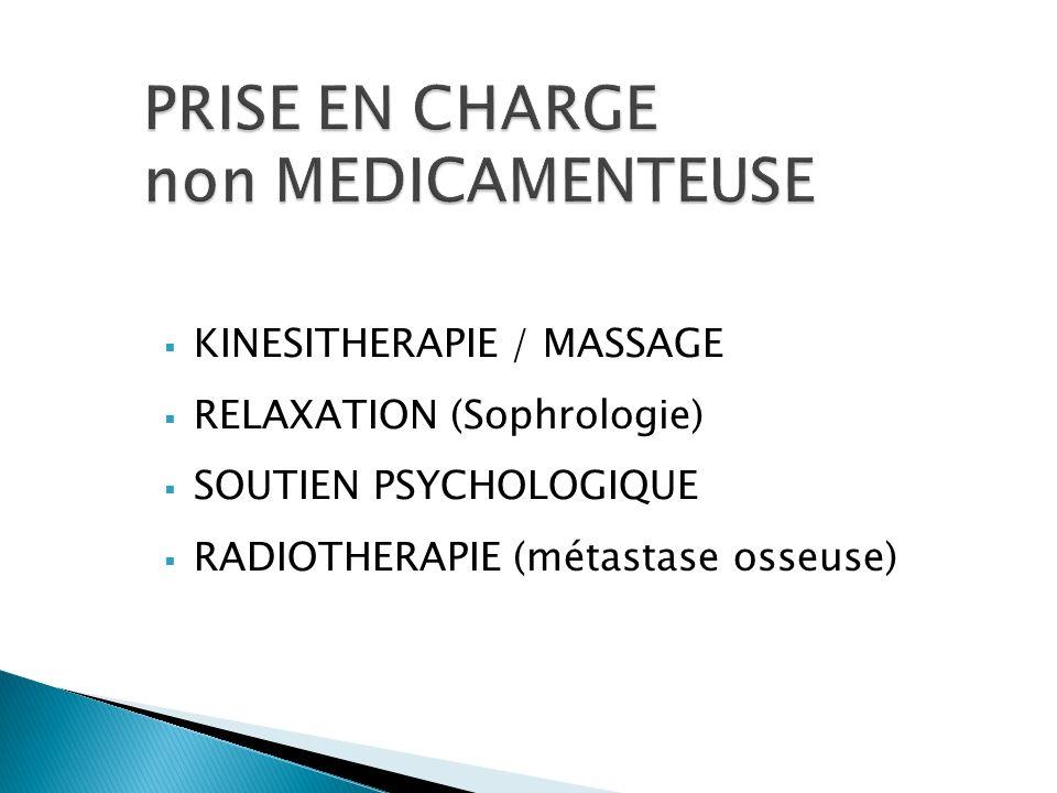 PRISE EN CHARGE non MEDICAMENTEUSE