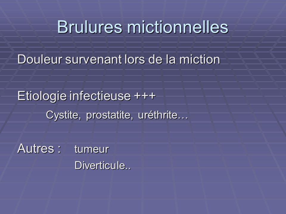 Brulures mictionnelles