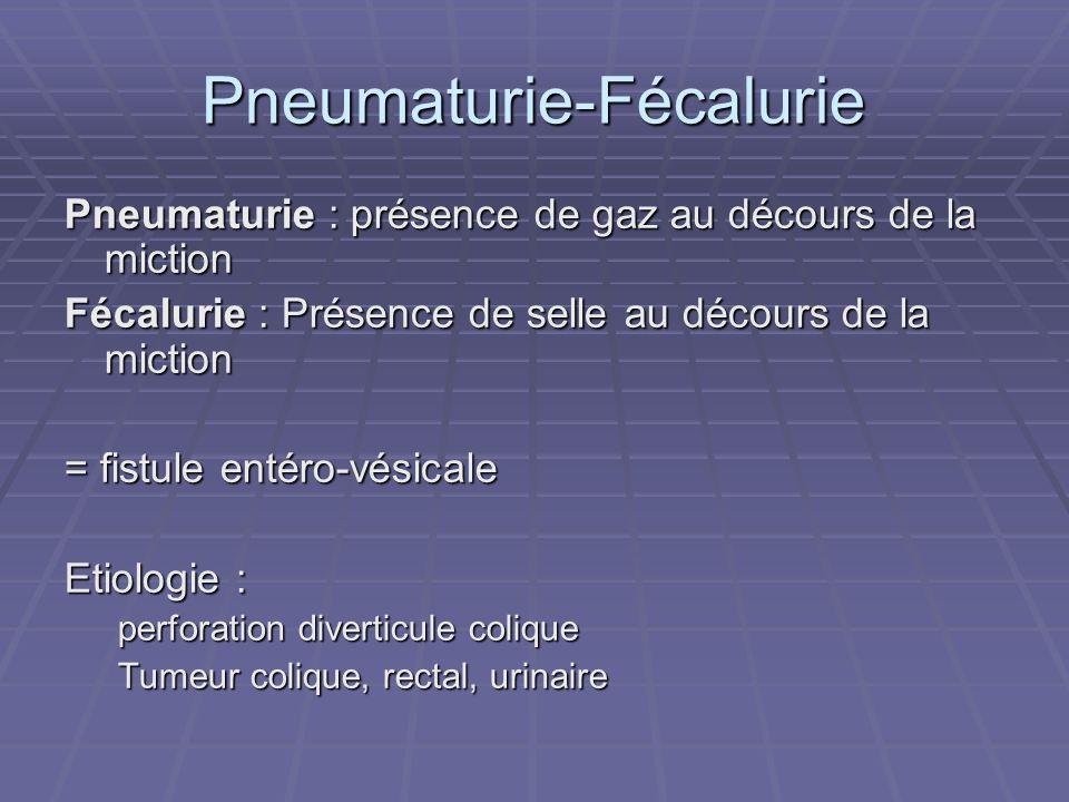 Pneumaturie-Fécalurie