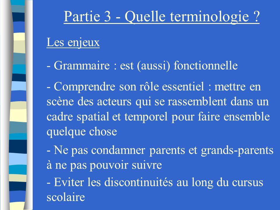 Partie 3 - Quelle terminologie
