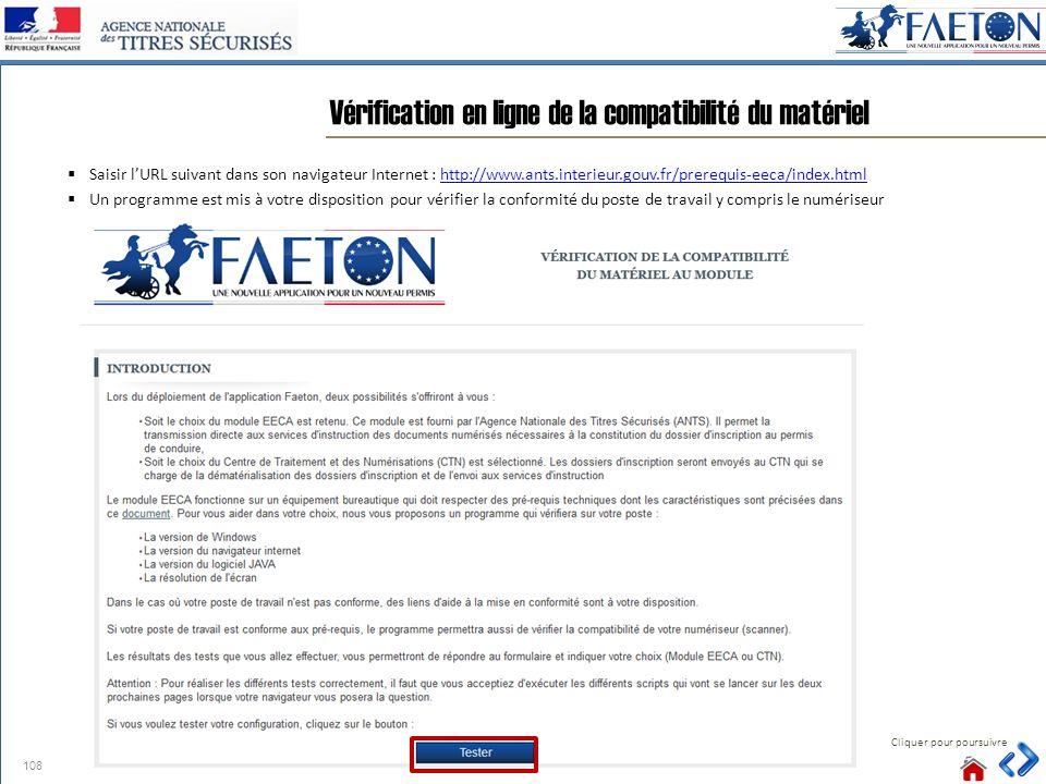 Vérification en ligne de la compatibilité du matériel