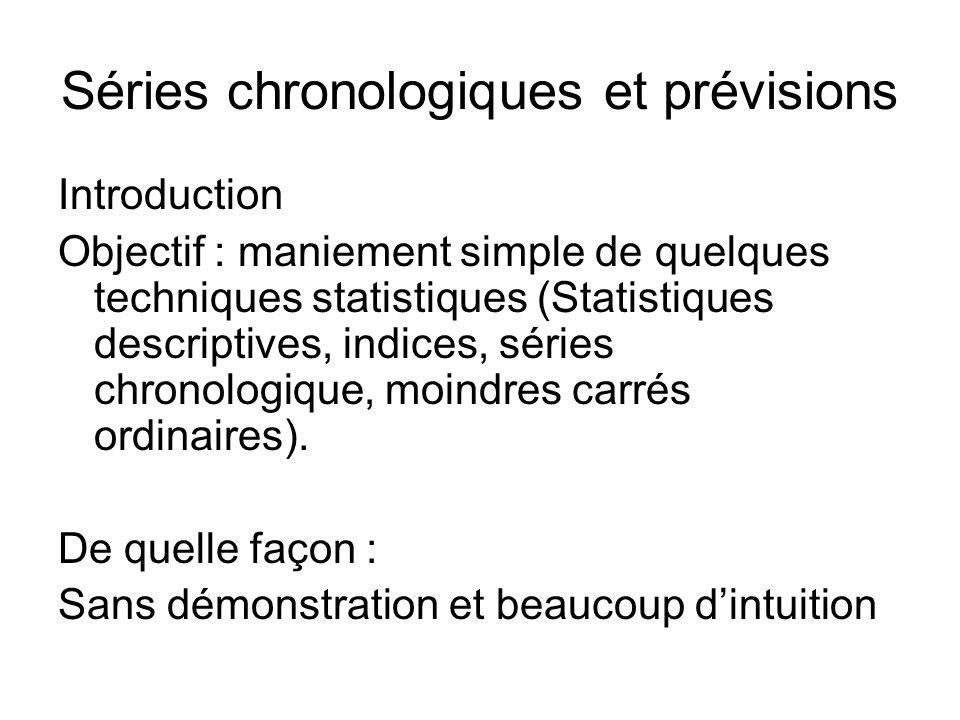 Séries chronologiques et prévisions