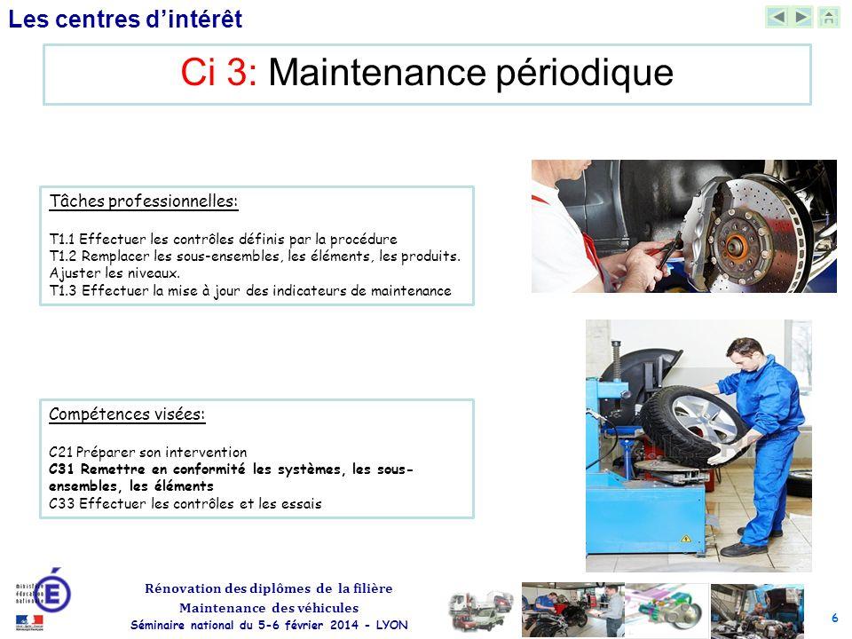 Ci 3: Maintenance périodique