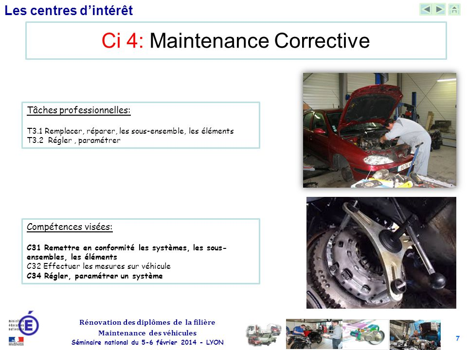Ci 4: Maintenance Corrective