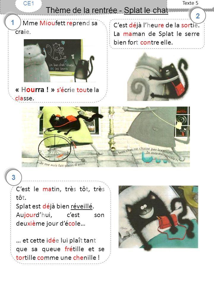 Thème de la rentrée - Splat le chat