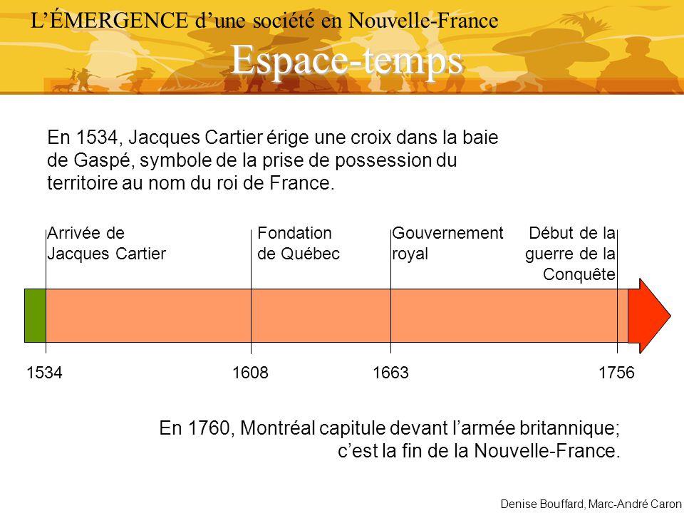Espace-temps L'ÉMERGENCE d'une société en Nouvelle-France