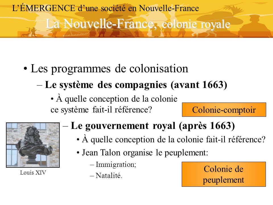 La Nouvelle-France, colonie royale