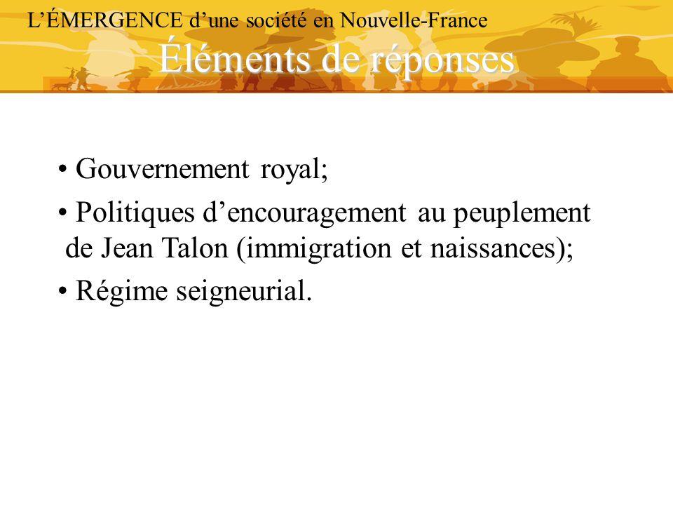 Éléments de réponses Gouvernement royal;