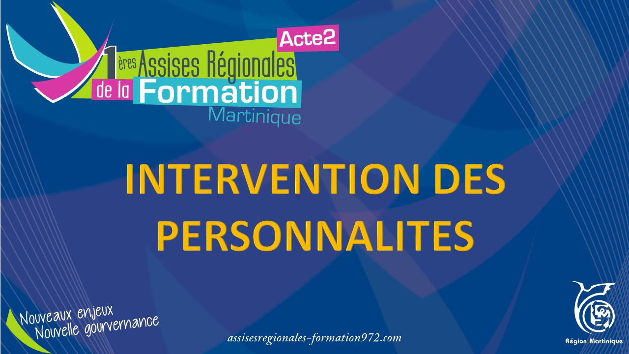 INTERVENTION DES PERSONNALITES