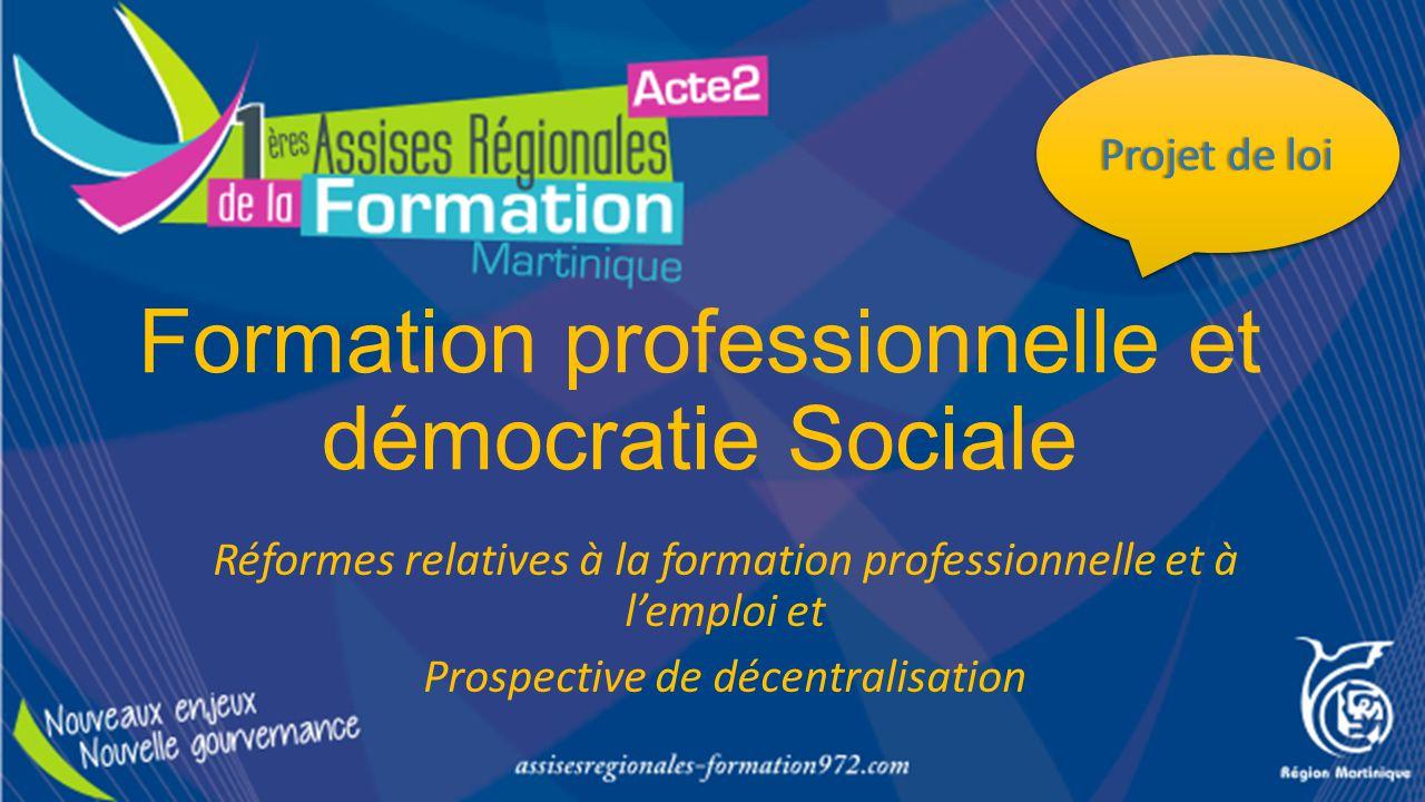 Formation professionnelle et démocratie Sociale