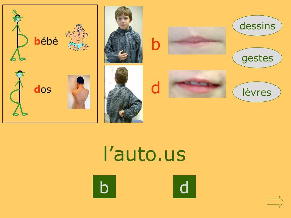 dessins bébé b gestes d dos lèvres l'auto.us b d Mod1RC=gdroite