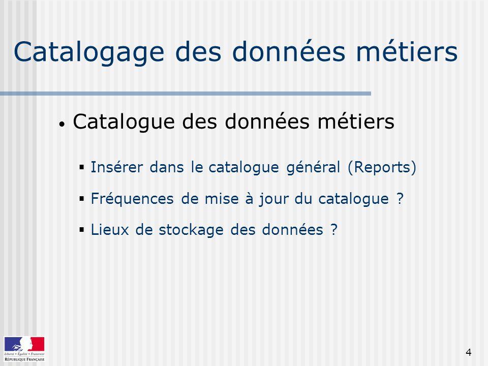 Catalogage des données métiers